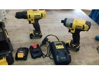 10.8v dewalt drills spare drill driver included