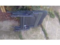 fishing chair,good condition, folds up flat, adjustable legs.