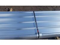 GALVANISED BOX PROFILE ROOFING SHEETS 10ft x 3ft APPROXIMATELY . HEAVY GAUGE, FREE DELIVERY !