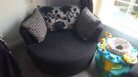 Round cuddle chair sofa