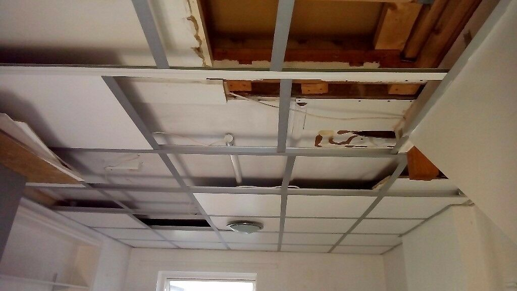 Suspended ceilings. (removed in kit form)