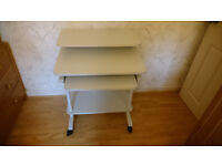 sturdy metal/wooden computer desk good condition