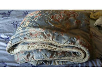 Lovely thick bedspread. Thick, king size. duckegg, gold and cream