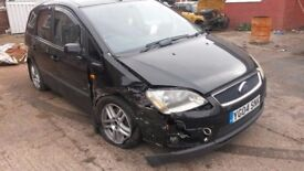 BREAKING FORD FOCUS C-MAX ZETEC MPV 2.0 TDCI DIESEL MANUAL BLACK 2004 90k MILES