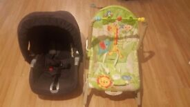 Baby bouncer and car seat