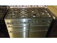 110 cm Dual Fuel Range Cooker - Stainless Steel