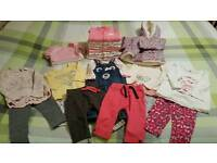 Baby girls clothes bundle size 6-9 months