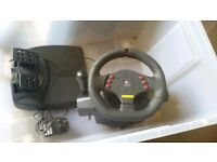 Logitech Momo force feedback PC steering wheel controller
