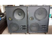 """PA Speakers with working 15"""" and 12"""" Celestion drivers CHEAP QUICK SALE"""