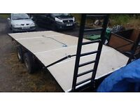 Car/plant /flatbed trailer with ramps