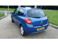 2007 RENAULT CLIO FSH LOW MILEAGE 85K STUNNING BLUE PLUS ALLOYS FULL YEAR MOT