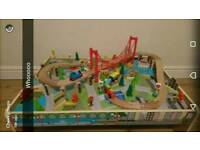 Carousel train set and table