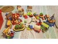 Big bundle of Happy Land Happyland toys.