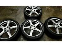 Alloy wheels tyres 100x5