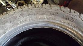 part worn Grabber AT tyres