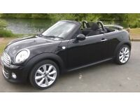 BLACK MINI ROADSTER COOPER - CONVERTIBLE