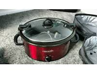 Crockpot slow cooker 6.5L Red
