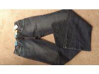 Next BNWT Dark Blue Stretch Slim Bootcut Jeans 16 Extra Long (Tall) XL