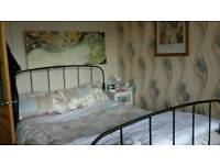 Wrought Iron Double Bed - black