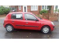 **12 month MOT** GC 5 door petrol Clio. Below average mileage and low insurance