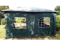 Green Gazebo with windows 4Mts x 3Mts strong frame