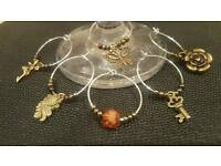 Bronze colour vintage style charms for wine glasses