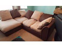 Right hand corner sofa perfect condition