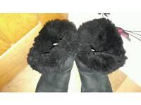 Ugg black sheepskin boots 8