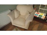 Cream Lounge Chair