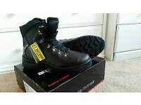 New real leather safety shoes size 10