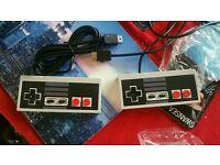 2 x NEW Mini NES classic controllers 1.8mtr