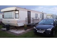 CARAVAN TO RENT ON CORAL BEACH INGOLDMELLS SKEGNESS 3 BEDROOMS IDEAL FAMILY SITE CLOSE TO FANTASY IS