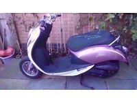 sym mio 100 with a 50 engine fitted full mot piaggio gilera aprilia derbi scooter 50cc 4 stroke sr50
