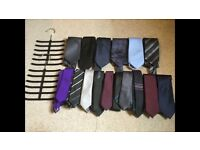 16 Ties with two tie hangers