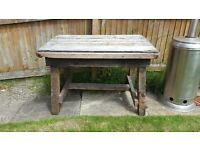 WOODEN OUTDOOR TABLE NO 2