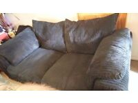 2 &3 seater black suite vgc delivery poss