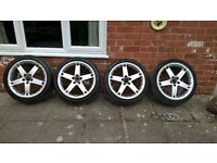 18 bbs Volvo split rims with good tyres