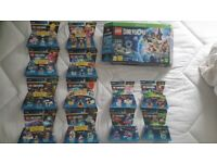 Lego Dimensions for XBOX plus 8 level packs and 4 fun packs