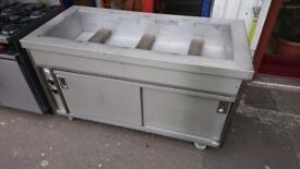1.5m x 700mm Dry Bain Marie with Hot Cupboard