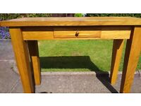 Solid High Quality Oak hall/ cloakroom table