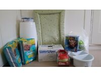 Angel care Nappy Bin, Ikea High Chair, Water Wipes, Water proof Mats, Cotton Balls & Much More ...