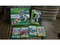 Leap Frog Leap TV, 2 controllers + 4 games