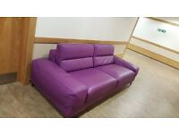 4 Piece Incanto Purple Leather Sofa for Sale (Edinburgh Area)