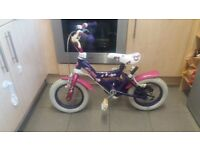 "12"" Girls bubble bike"