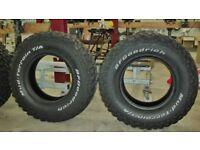 BF Goodrich Mud-Terrain tyres set of 4 LT265/75R16