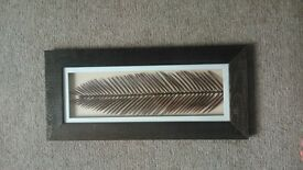 Next Leaf Picture Prints in dark wood frames, excellent condtion.