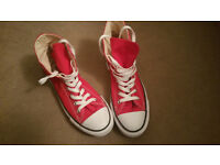 Red Converse woman