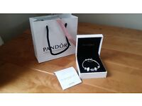 Genuine Pandora Wedding Bracelet with Cert. of Authenticity *Wedding gift for daughter, wife, friend