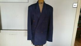 Vintage ROBERT SIMON Double Breasted Mens Designer Jacket. Size : S