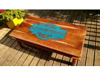 Game of Thrones Handmade Large Rustic Coffee Table Solid Wood GoT Home Wedding Gift